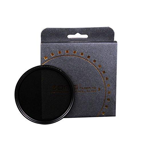 Zomei 52mm Fader Variable ND Filter Einstellbar ND2bis ND400ND2–400Graufilter für Canon Nikon Hoya Sony Kamera Objektiv 52mm