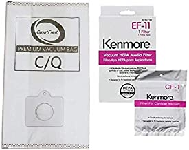 Casa Vacuums 81614 Kit. 6 Cloth Bags + 1 EF-11 + 1 CF 1. Compatible with Kenmore 600 Series Bagged Canister Vacuum w/Pet PowerMate. Replaces Part #'s C/Q, 5055, 50558, 50104, 52370, 81002