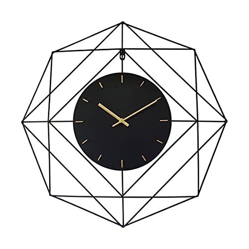 Mocdiy 60cm Wanduhr Vintage, Groß Wanduhr Ohne Tickgeräusche Uhr Lautlos Metall Wanduhr Dekorative für Wohnzimmer, Küche, Büro und Schlafzimmer