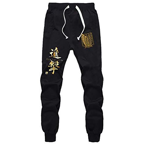 Men's 3D Anime Shingeki Kyojin Sweatpants Sport Jogging Pants Casual Trousers (3, Small)