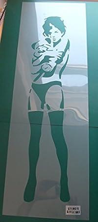 Girl 120cm High XL Lebensgr/ö/ße Schablone Farbe Ihrer W/ände mit Ihren Eigene Authentisch Banksy Kunst Gro/ße Gr/ö/ßen f/ür Mehr Visual Impact Banksy M/ädchen Knuddeln Teddy Schablone