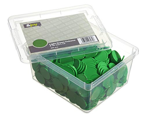 En-Joy Gettoni Neutri Plastica - Verde - 500 Monete - 29 mm