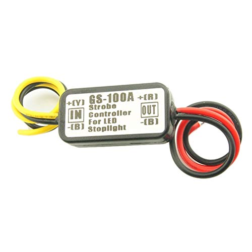 RJJ Wyfan GS-100A Coche LED de Parada de Freno luz Strobe Flash Flashing Controlling Módulo de Caja (Emitting Color : As Shown)