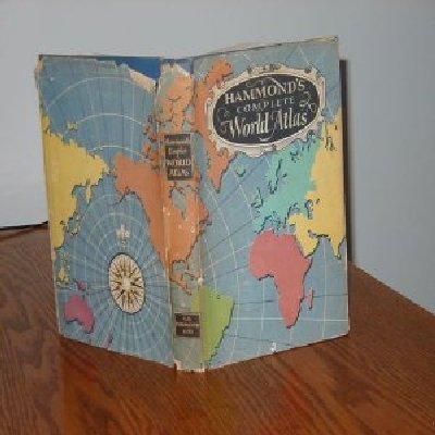 HAMMOND'S COMPLETE WORLD ATLAS/1950/GD BOOK