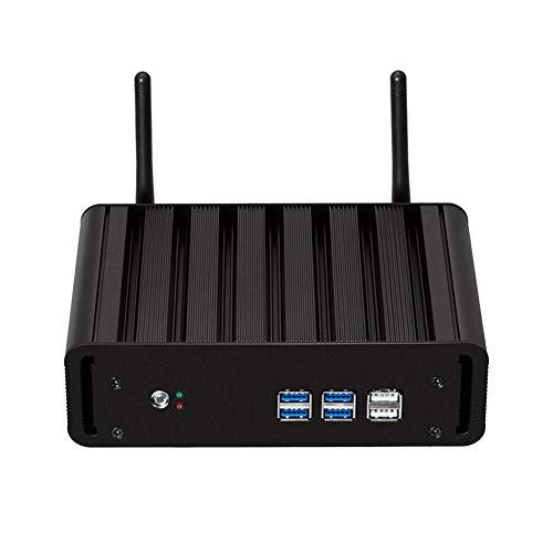 Fanless Mini Pc, I7 4500U Processor Host, Gigabit Ethernet, Dual-Band WiFi, Ondersteuning voor Windows, Linux System, Geschikt voor meerdere gelegenheden Zwart