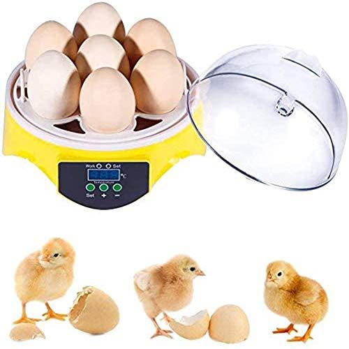 7 Eieren Halfautomatische Mini Digitale Temperatuurregeling Ei-incubatoren Pluimvee-broedmachine voor het uitkomen van kippegans Eend