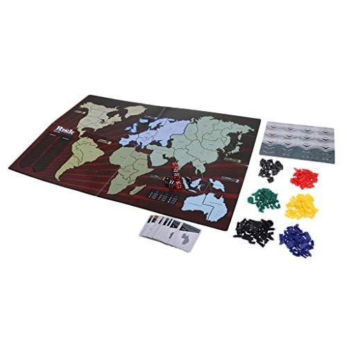 Tubayia Europäisches Risiko Brettspiel Strategiespiel Familienspiel für 2 bis 6 Spieler (A)