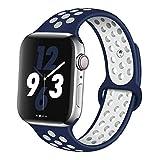 LEER Correa De Silicona para Apple Watch Band 44Mm / 40Mm para Iwatch Band 42Mm / 38Mm Reloj De Pulsera Deportivo Serie 6 Se 5 4 3 2 1 42 44 Mm