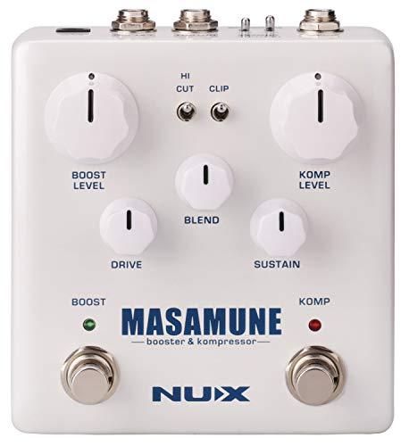 Booster y compresor de guitarra NUX Masamune con enrutamiento interno