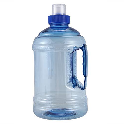 CKMSYUDG Botella de agua de 1 L grande, sin BPA, para deportes, gimnasio, entrenamiento, fiesta, botella de agua, color azul, capacidad: 1 L