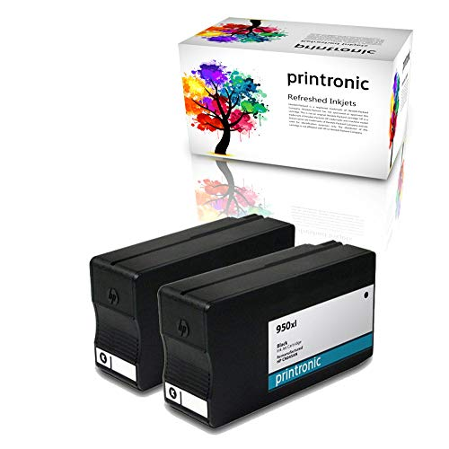 Printronic Remanufactured Ink Cartridge Replacement for HP 950xl CN045AN for OfficeJet Pro 251dw 276dw 8100 8600 8600 (2 Pack)