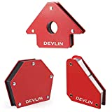 Devlin Square, Arrow & Multiangle Magnetic Clamp Pack of 3 (RED)