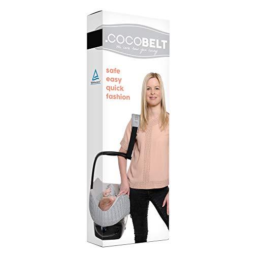 Cocobelt Tragegurt für Babyschalen aller Marken (Schwarz)