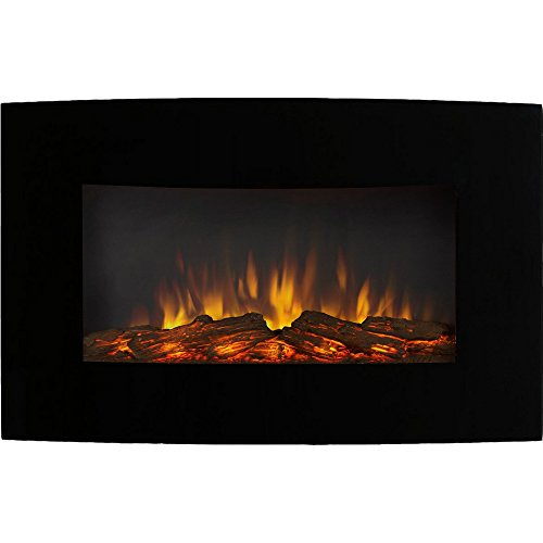 Regal Flame Broadway 35 Inch Ventless Heater Electric Wall Mounted Fireplace -...