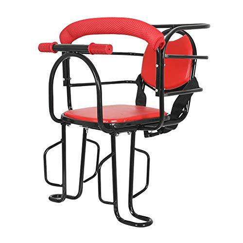WSDSB Asiento Infantil para Bicicleta, Desmontables Asiento de Seguridad Sillín de Bicicleta para Niños de 1 a 3 Años con Pedal y Mango