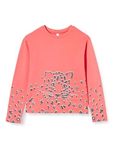 ESPRIT KIDS Mädchen RQ1507303 Sweatshirt, Rosa (Coral 323), (Herstellergröße: 116+)