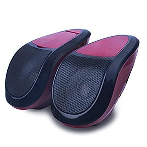 XZHFC 2 Unids 12V Motorcycle Audio Stereo MT493 Altavoces Bluetooth Portátil Impermeable LED LED Player MP3 Sintonizador De Radio FM Red