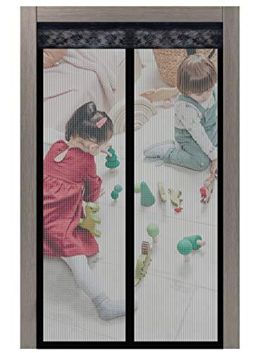 Fliegengitter Tür 100x210 cm (Aktualisierte) Fliegengitter,Fliegengitter Tür,Fliegengitter Balkontür,Insektenschutz Tür,Magnet Fliegengitter,Für Die Balkontür,Kellertür,Terrassentür Und Alle Türen