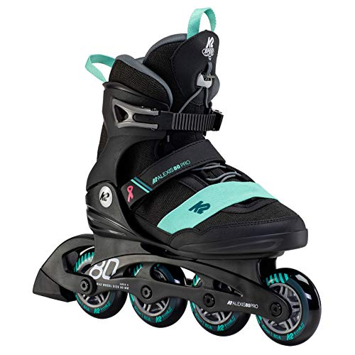 K2 Inline Skates ALEXIS 80 PRO Für Damen Mit K2 Softboot, Black -...