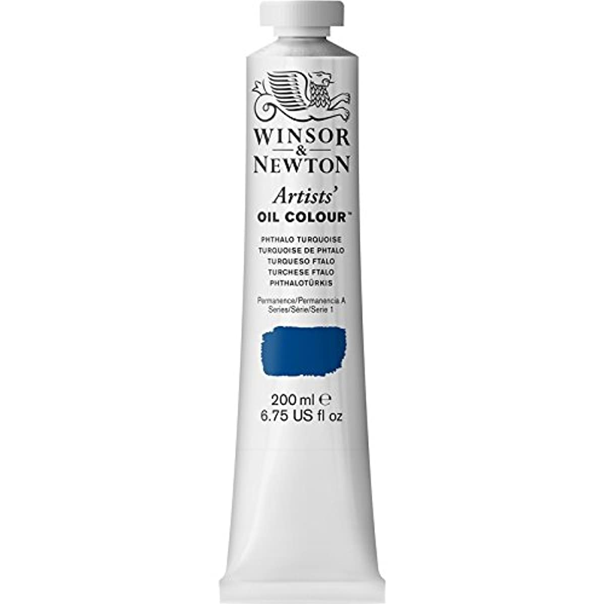 Winsor & Newton Artists' Oil Colour Paint, 200ml Tube, Phthalo Turquoise