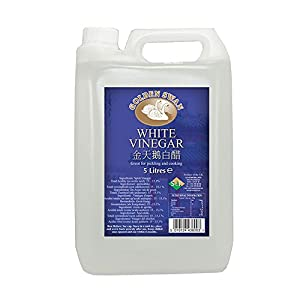 Golden Swan - Pack de 4 garrafas de vinagre blanco de 5 litros