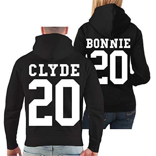Spaß kostet Partner Kapuzenpullover Bonnie & Clyde 2020 (mit Rückendruck) Größe S - 8XL