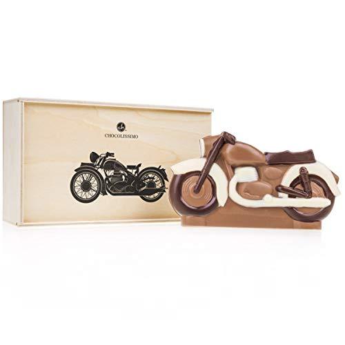 Moto de chocolate en caja de madera | Idea de regalo para niños | niño | papá | gran padre | Sin alcohol | Vintage | Colección, Motard | Navidad | Pasques | Cumpleaños | Día del Padre