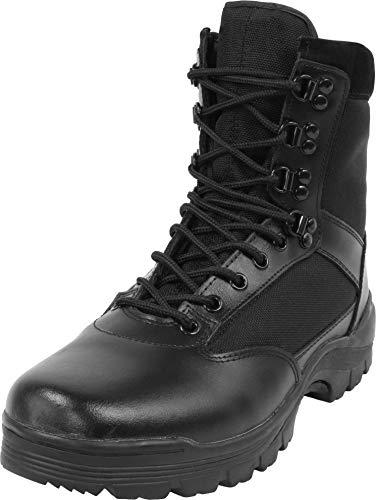 normani Herren Stiefel Leder Swat Boots mit Thinsulate Fütterung Farbe Black Größe 50 EU