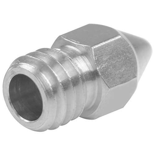 Guangcailun 3D Printer Nozzle Extruder Print Head Parts Extruder Print 1.75mm Filent Replacement for Zortrax M200, 0.4mm Caliber Stainless Steel