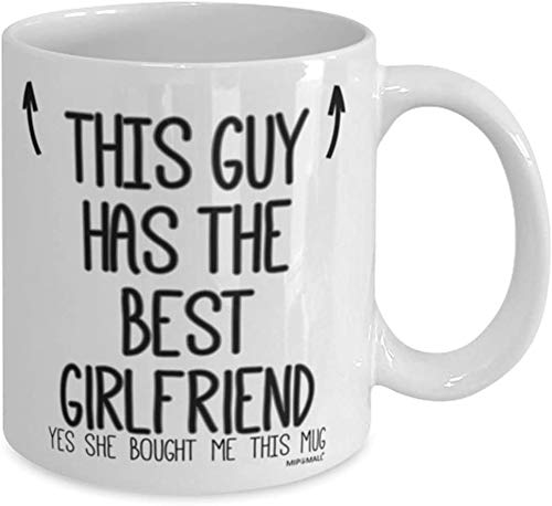 Boyfriends Mug - Gifts for Boyfriend - This Guy has The Best Girlfriend - Fathers Day, Birthday - Coffee Mugs, Valentines Gifts for him - wm7419