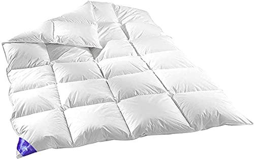 100% Natur Daunen Federn 135x200cm Verschiedene FÜLLUNGEN Bettdecke, Decke, Bettdecken, Ballondecke, Daunenflaum, Decken (135X200_EXTRA WARM (1600GR))