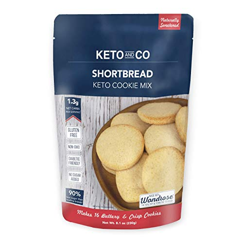 Shortbread Keto Cookie Mix by Keto and Co | Just 1.3g Net Carbs Per Serving | Gluten Free, Low Carb, No Added Sugar, Naturally Sweetened | (Shortbread Cookies)