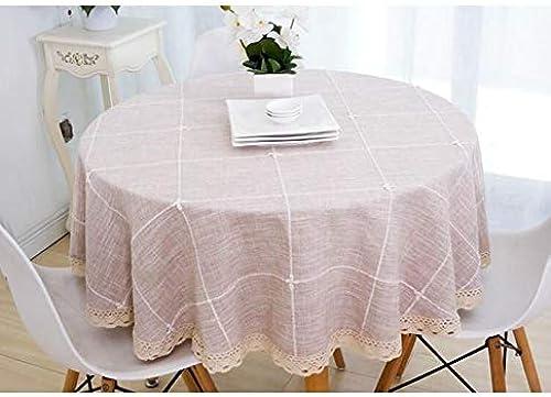 Nappe, nappes en lin et coton Couvertures en lin pour table rectangulaire (Couleur   marron-b, taille   180CM)