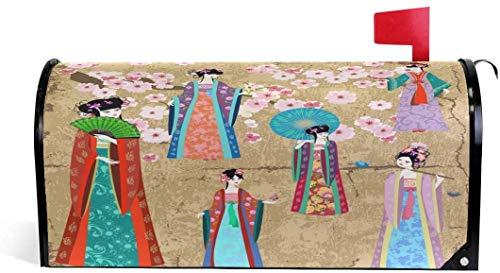 Disfraz japons magntico 21 x 18 en cubierta de buzn de gran tamao para decoraciones de jardn al aire libre
