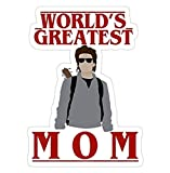 Steve Harrington - World's Greatest mom, Stranger Things Decal Sticker - Sticker Graphic - Auto, Wall, Laptop, Cell, Truck Sticker for Windows, Cars, Trucks