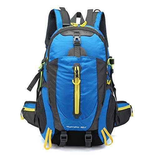 GXFCQKDSZX Mochila de Camping 40L Unisex Mochila Impermeable Bolsa de Viaje