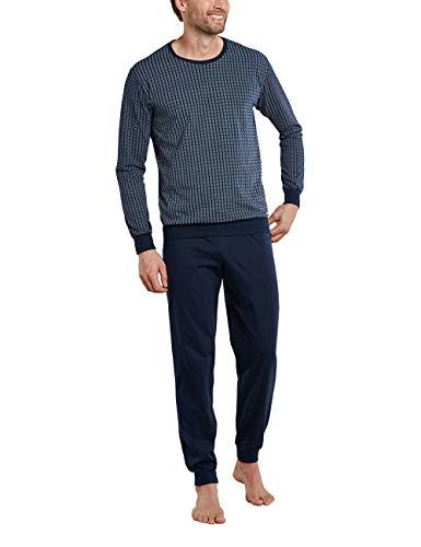 Schiesser Herren-Schlafanzug Essentials Single-Jersey Marine Größe 50