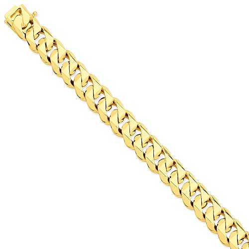 Collana in oro giallo 14 kt, lucidata a mano, stile tradizionale, da uomo e da donna e Oro giallo, cod. TMDLK121-20