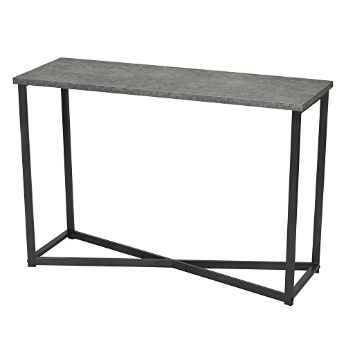 Household Essentials Slate Faux Concrete Sofa Table | Console Table for Entryway
