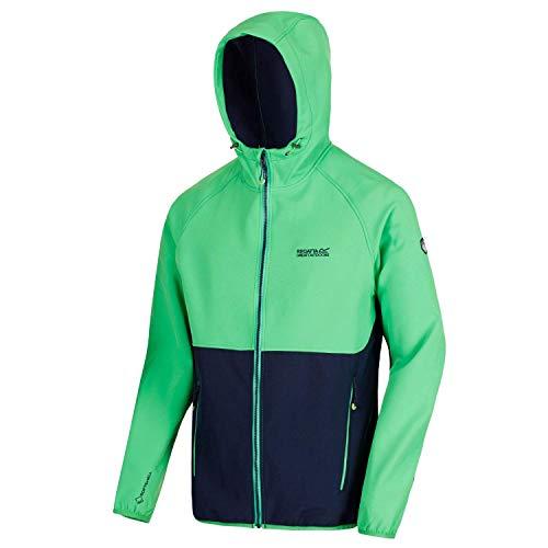 Regatta Herren arec II wasserabweisend und Wind beständig Stretch Softshell Jacke XL Fairway Green/Navy
