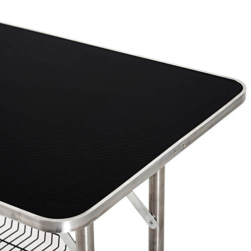 PawHut Quality Guaranteed 36-inch Stainless Steel Dog Grooming Table with Adjustable Arm and Basket (5663-0769)