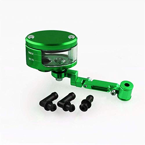 Motorrad-Hauptbremszylinder Grube Fahrrad Modifiziertes Motorrad vorne Bremsflüssigkeitsbehälter Behälter Oil Cup + Halter Z autohalterung (Color : Green)