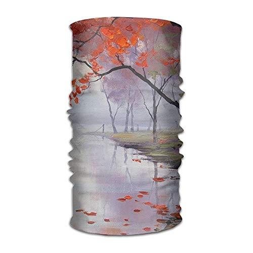 Voxpkrs Multifunctional Headwear Leaf Autumn Headband Fashion Headscarf Sweatband for Outdoor 19.7x9.85(inch)/50x25(cm)