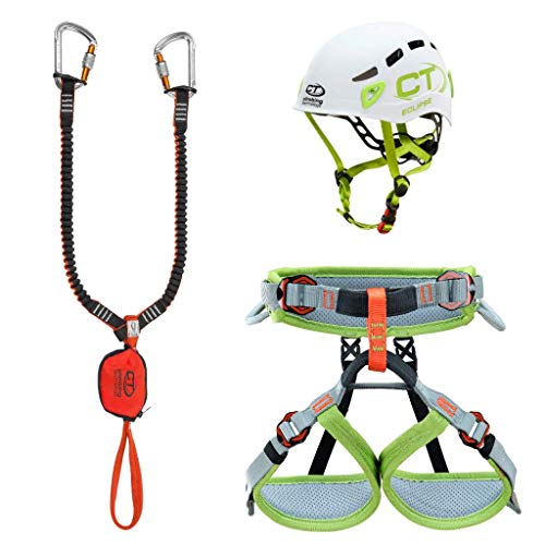Climbing Technology Junior Eclipse-Classic-k Slider-Ascent, Kit Ferrata Unisex Niños, Colores Surtidos, XXS