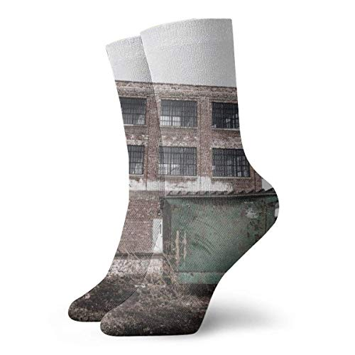 Abandoned Warehouse Casual Fashion Crew Socks 30 cm for Sports Boot Hiking Running Design#475