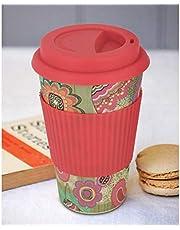 Freelance Bamboo Fibre Eco Travel Mug, Water Tumbler, Tea Coffee Cup, 400 ml, Multicolor