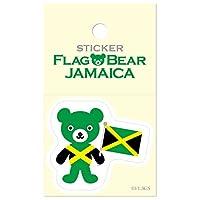 ムーングラフィックス ステッカー 国旗 クマ ジャマイカ S FBS30