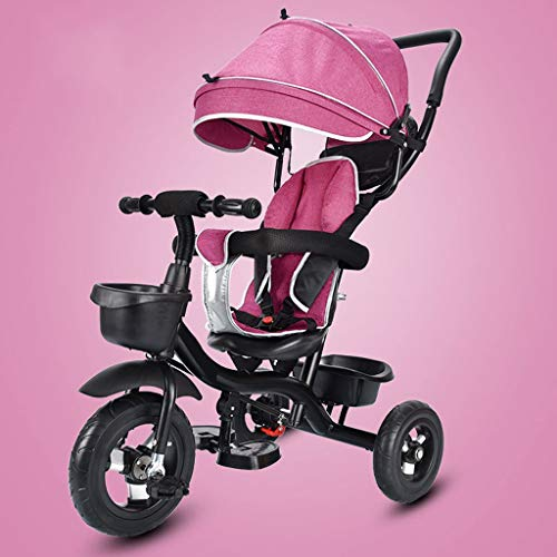 Fantastic Prices! TXTC Tricycle with Three-Speed Adjustable Awning,Baby Stroller Pram Carriage Strol...