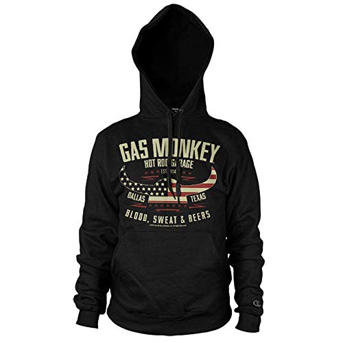 Gas Monkey Garage Officially Licensed American Viking Big & Tall Hoodie (Black) 5X-Large