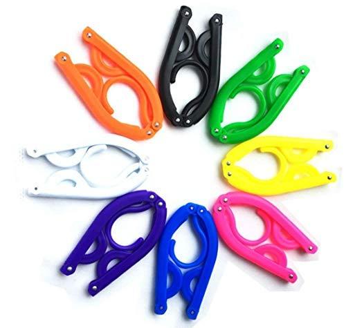 Folding HangerPortable Folding Clothes Hanger LightweightExtra-Large Load-Bearing FoldableNon-Slip TravelHomeGift Pack Of 8 Random Color